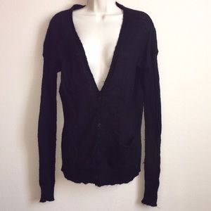 VOLCOM Black Sweater NWOT Med button down